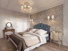Интерьер двухкомнатной квартиры в классическом стиле, ЖК «Новомосковский», 60 кв.м.
