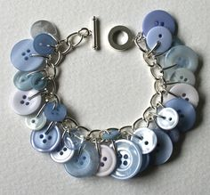 Button+Bracelet+Pale+Blue+Forget+me+Not+by+MrsGibson+on+Etsy,+$22.50