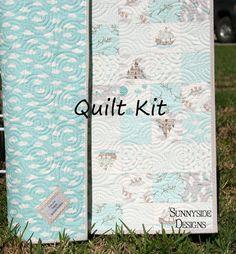Storybook Quilt Kit Baby Boy Blanket Moda by by SunnysideFabrics, $52.00