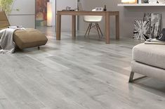 Grey floorboards are bang on trend. In fact, they are probably one of the latest flooring trends to really take the flooring world by storm. Grey Floorboards, Light Grey Wood Floors, White Washed Floors, Light Grey Walls, Types Of Flooring, Flooring Options, Grey Laminate Flooring, Bedroom Flooring, Decoration