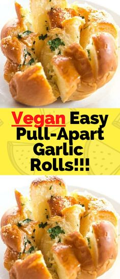 Simple and Easy One Hour Pull-Apart Garlic Rolls are infused with the flavors of garlic and herbs. Perfect as an appetizer or can be paired with pasta or hot soup for a complete meal. Vegan and made from scratch… Ingredients FOR THE DOUGH Best Vegan Recipes, My Recipes, Pull Apart Garlic Rolls, Dried Basil Leaves, Garlic Herb Butter, How To Make Taco, Recipe Cover, Hot Soup, Vegan Butter