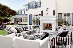 Indoor Outdoor Rooms - Outdoor Room Decorating Ideas - Harper's BAZAAR