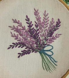 Embroidery Needles, Hand Embroidery Stitches, Embroidery Hoop Art, Crewel Embroidery, Hand Embroidery Designs, Ribbon Embroidery, Cross Stitch Embroidery, Hand Embroidery Flowers, Embroidered Flowers