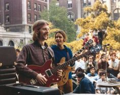 The Grateful Dead's Phil Lesh and Bob Weir, Columbia University 1968.