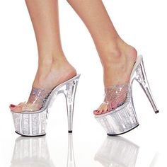 Pleaser Stiletto Shoes Centerstage Womens Pole Dancer Hologram Sandal Pumps Heels Platform Size 11