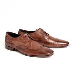 NEW Eddie Leather Brogue Shoe by Hudson | $248 | Eddie is the latest brogue offering. Crafted on a slightly pointier last, this style is perfect for work wear or those more formal occasions. Using a rich leather, we have created a unique style with a traditional toe rose and additional punched detailing to the side and lace fastening. | GOTSTYLE.CA