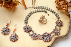Bohemian style jewelry set chainmaille boho girl by TerrasChains