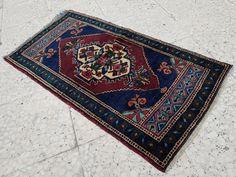 Shining Rug Flat Weave Dark Color Wool Carpet Sale, Vintage Small Miniature Persian Pile Rug,Handwoven Table Runner 1'7'' X 3'1'' / 49x95 cm