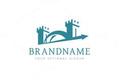 Logo design with concept of two watchtowers (can symbolize trust, stability and similar) connected with stylized bridge. Logo Design Samples, Logo Design Template, Text Design, Book Design, Gate Logo, Bridge Logo, Royal Logo, Construction Logo Design, Clever Logo