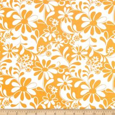 From Benartex, this cotton print is perfect for quilting, apparel and home decor accents.  Colors include orange and white.