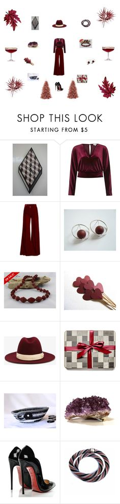 Claret party wear by einder on Polyvore featuring interior, interiors, interior design, home, home decor, interior decorating, River Island, Racil, Christian Louboutin and Borsalino