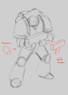 In this tutorial, you will learn step by step How to Draw a Space Marine. You can use traditional drawing or digital techniques.This tutorial is valid for both work methods. The principles we will explain here will work in any medium. Gesture Drawing, Drawing Poses, Drawing Tips, Space Drawings, Art Drawings, Contour Drawings, Robots Drawing, Space Marine, Figure Drawing Reference