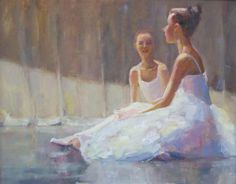 The Carolina Ballet On Canvas - Short Break by Nicole White Kennedy - http://www.nicolestudio.com/images/NicoleArt/Figurative_still_life.html