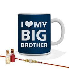 Love you big brother mug N Rakhi Combo including Roli Chawal