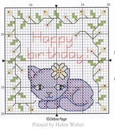 Cat Cross Stitches, Cross Stitch Embroidery, Embroidery Patterns, Cross Stitch Patterns, Bookmarks, Birthday Cards, Cat Stuff, Crafts, Yule