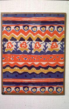 Design on paper for a textile by unidentified Weiner Werkstatte designer (1903-1932).