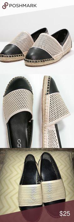 ALDO MARJORIA - Espadrilles Bone Women Flats ALDO MARJORIA - Espadrilles Bone Women Flats. EUC only sign of wear is on the bottoms. Side elastic make for easy on and off. Aldo Shoes Espadrilles