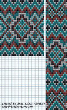 scheme beading patterns weaving gerdan Gaitan (Russian)