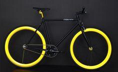 Black and Anodized Gold Fixie, Fixies, Fixie Bikes | AeroFix Cycles Swagger | LA Fixed