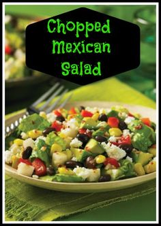 Chopped Mexican Salad #Recipe Made salad, dressing not WW friendly, use Cilantro Dressing and then a little spice.  Very good.  8-2013 Shirley