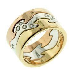FUSION RING - MIXED GOLD/DIAMOND CENTRE - GEORG JENSEN - SAVE £315! Regular Price: £2,105.00 Special Price: £1,790.00