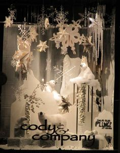 Decorated Christmas shop window