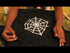 DIY Spider Web Cut Out Shirt.... this may be the perfect one