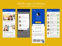 Mobile App concept with Google Material Design