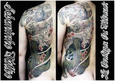 Tatouage japonais Poseidon Pieuvre Sebaninho Tattoo