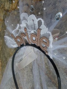 The Cowgirl Bride Country Party Headband for new  by RiosBows, $22.00
