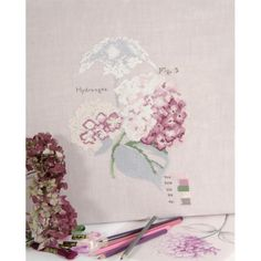 "kit cuadro ""hydrangea botanique"" BK1514 - Casa - Deco - DMC"