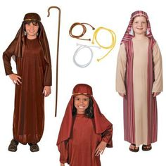 Easter Costumes, Biblical Costumes for Kids Easter Costumes For Kids, Costumes Kids, Shepherd Costume, Biblical Costumes, Easter Play, Nativity Costumes, Easter Religious, Baptisms, Costume Patterns