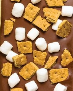 This is genius! S'mores Bark (make with homemade marshmallows and cookies and it would be a fantastic gift!)