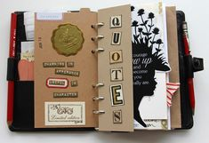 Besottment Filofax Art Journal #filofax....duh I have a beautiful planner I could make into an art journal