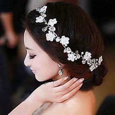 Damen Spitzen / Künstliche Perle / Chiffon Kopfschmuck-Hochzeit / Besondere Anlässe / Freizeit / im FreienStirnbänder / Blumen /