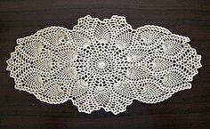 Crochet - Pineapple Oval Doily; Free pattern