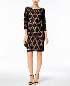 Nine West Floral Lace Sheath Dress
