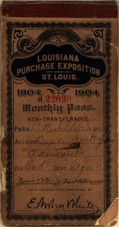 1904 Louisianna Purchase Exposition Ephemera ~ **FREE ViNTaGE DiGiTaL STaMPS
