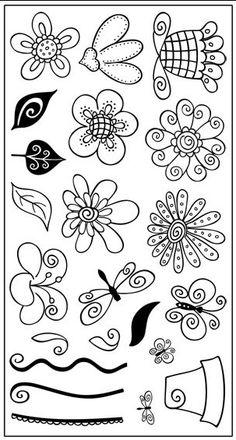 Pink Cat Studios - Doodle Garden Unmounted Sheet #1