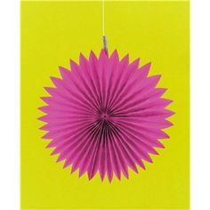 """Dress your party for success with colorful and unique decorations. Featuring a bright pop of color, Bright Pink Paper Fans are sure to add a dimensional and decorative touch to your birthday, wedding, reception, shower, or special event.    These fans are folded accordion-style and they unfold into a large round tissue paper circle. Make a bold and colorful statement!        Dimensions:      Diameter: 6"""", 8"""" & 10""""          Package contains 3 fans (1 ..."""
