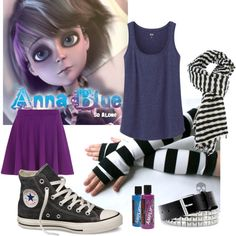 Anna Blue by rockieisthecarnotauruswhisperer on Polyvore featuring polyvore and arte