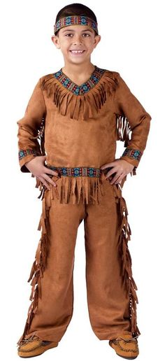 Kids Native American Indian Brave