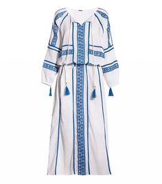 Dodo Bar Or Embroidered Cotton-Crepon Maxi Dress