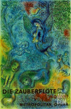 The Magic Flute (Die Zauberflote) Collectable Print by Marc Chagall at Art.com