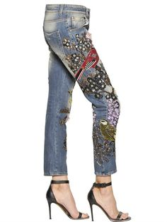 AMEN - JEANS COUTURE IN DENIM DI COTONE - LUISAVIAROMA - LUXURY SHOPPING WORLDWIDE SHIPPING - FLORENCE