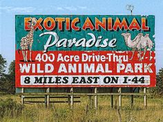 A drive thru wildlife animal park in Springfield, MO which is no longer in existence!