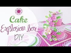 DIY Explosion Box Torta Compleanno - B-day cake explosion box - YouTube