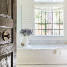 Sometimes all it takes is one magical morning moment to coast you smoothly through the day - what does your magic moment look like? Country Barns, Country Farmhouse Decor, Farmhouse Chic, Country Living, Custom Home Builders, Custom Homes, Tub Remodel, Farmhouse Windows, Rustic Bathrooms