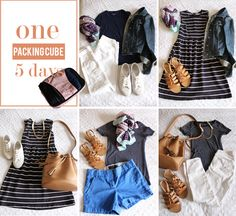 mini suitcase: six items, five outfits