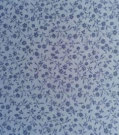 Recuerdo de calicó ™ Tela-azul de la voluta floral de algodón